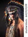 Small photo of Native American Indian Chief War Bonner Headdress