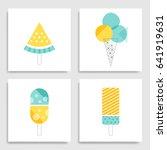 set of cute creative card...   Shutterstock .eps vector #641919631