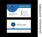 business card template design.  | Shutterstock .eps vector #641924851