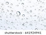 background of water drops on... | Shutterstock . vector #641924941