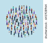 big people crowd on white... | Shutterstock . vector #641928964