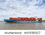 container ship   dramatic view... | Shutterstock . vector #641930317