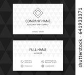 business card  vector | Shutterstock .eps vector #641933371