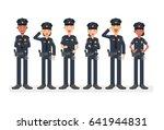 police in uniform.police man... | Shutterstock .eps vector #641944831