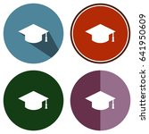icons flat graduation for web ... | Shutterstock .eps vector #641950609