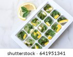 cooking ice cubes with lemon... | Shutterstock . vector #641951341