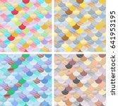 set abstract seamless patterns... | Shutterstock .eps vector #641953195