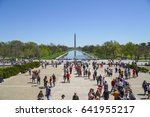 famous reflecting pool at... | Shutterstock . vector #641955217