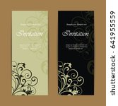 beautiful wedding invitations... | Shutterstock .eps vector #641955559