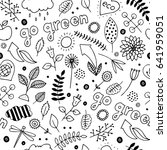 eco friendly seamless pattern.... | Shutterstock .eps vector #641959051