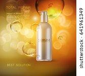 anti wrinkles serum ads poster... | Shutterstock .eps vector #641961349