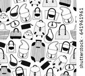 seamless pattern with women's... | Shutterstock .eps vector #641961961