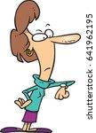 cartoon woman impatiently... | Shutterstock .eps vector #641962195