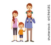 colorful image caricature... | Shutterstock .eps vector #641964181