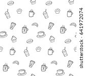 seamless vector pattern with... | Shutterstock .eps vector #641972074