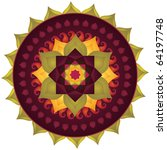 lotus mandala with paisley ...   Shutterstock .eps vector #64197748