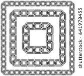 seamless vector chain frames...   Shutterstock .eps vector #641978455