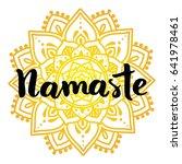 mandala vector illustration... | Shutterstock .eps vector #641978461