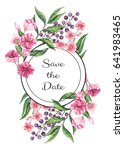 save the date card with... | Shutterstock . vector #641983465