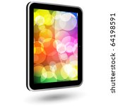 touch tablet pc 6  black ... | Shutterstock .eps vector #64198591