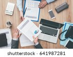 business people working... | Shutterstock . vector #641987281
