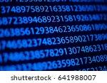 number on computer digital...   Shutterstock . vector #641988007