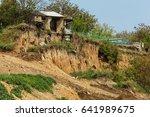 landslide caused by torrential... | Shutterstock . vector #641989675