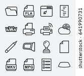 document icon. set of 16... | Shutterstock .eps vector #641990731