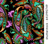 Pattern Paisley Trendy Paintin...