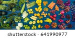 flat lay fresh  fruits and... | Shutterstock . vector #641990977