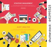 set of flat design ideas for... | Shutterstock .eps vector #641995525