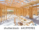 Wood Home Framing Abstract At...