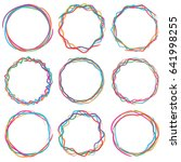colorful circle text box frame... | Shutterstock .eps vector #641998255
