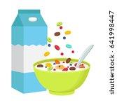 vector illustration. cereal... | Shutterstock .eps vector #641998447