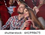 smiling beautiful couple... | Shutterstock . vector #641998675