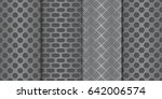 metal perforated background.... | Shutterstock .eps vector #642006574