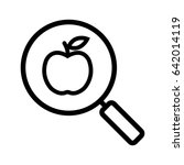 healthy food search linear icon.... | Shutterstock .eps vector #642014119