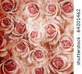 Stock photo grunge beautiful roses background of set 64201462