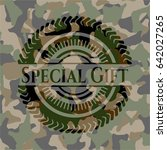 special gift on camouflaged... | Shutterstock .eps vector #642027265