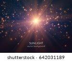 sun light star burst with...   Shutterstock .eps vector #642031189