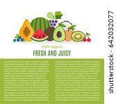 fresh fruits vector collection.... | Shutterstock .eps vector #642032077