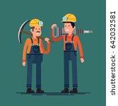 cool vector flat character... | Shutterstock .eps vector #642032581