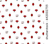 seamless pattern with lucky...   Shutterstock .eps vector #642032755
