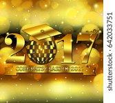 congrats class of 2017 with a... | Shutterstock . vector #642033751