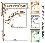 frame in the style of art...   Shutterstock .eps vector #642034987