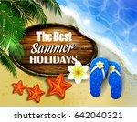 beautiful beach top view | Shutterstock .eps vector #642040321