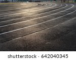 Small photo of All-weather stadium running track.