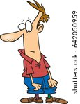 cartoon man with mismatched... | Shutterstock .eps vector #642050959