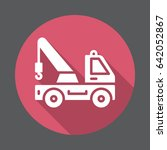 tow truck flat icon. round... | Shutterstock .eps vector #642052867