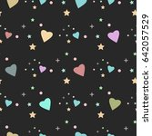 seamless pattern with tiny... | Shutterstock .eps vector #642057529